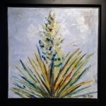Yucca  12 x 12 Watercolor on Canvas